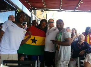 The guys from Ghana made the game a blast to watch!