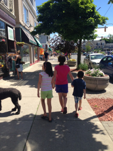 Elmwood Avenue Shopping fun with my brother and cousin.