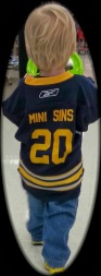 Heading to fis First sabres game.. Custom Jersey and all!