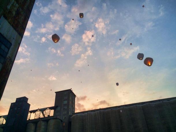 Lantern Release Sky_Chuck Banas