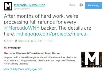 This is the tweet put out by Mercado on August 12th, alerting people to the refund status. Photo via twitter