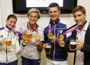 Even Olympians drink beer after running! - Photo by isifa/VLP/Martin Divisek/Getty Images