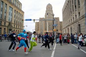 Superheroes run too!!!! - Photo via flickr.com user JulioGonzalez1