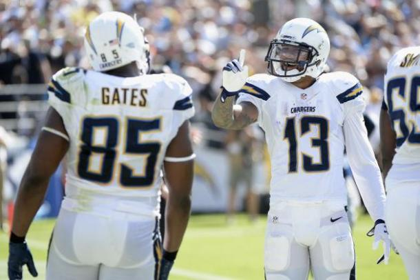 Antonio Gates and Keenan Allen say not so fast to the Bills 3-0 hopes! - Photo via bleacherreport.com