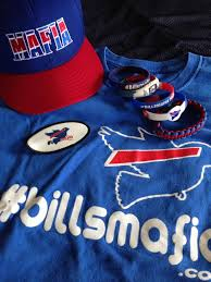 The #BillsMafia sells all types of Bills related gear that benefits charities across WNY! - Photo via Twitter!