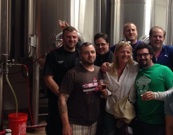 The What's Going On In Buffalo Crew! Erik the Brewmaster is at the far left.