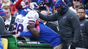 CJ Spiller could have played his last game as a Buffalo Bill, after suffering a season ending broken clavicle injury.  - Photo via newyork.cbslocal.com