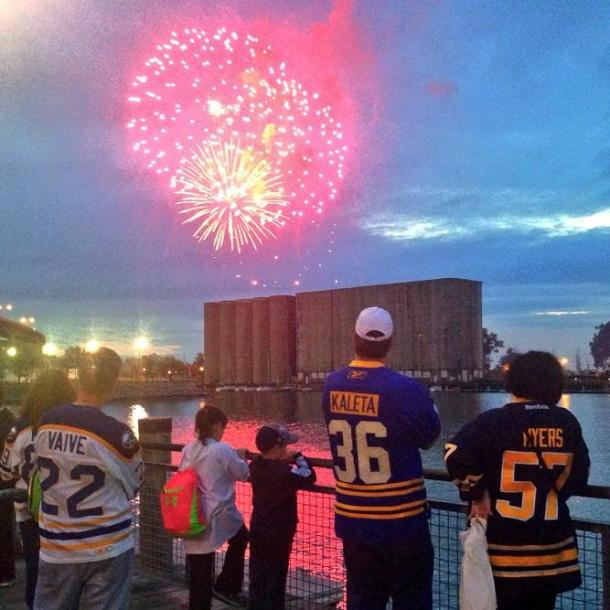 Canalside Fireworks following the Ducks game may have been the highlight of the Sabres' week.