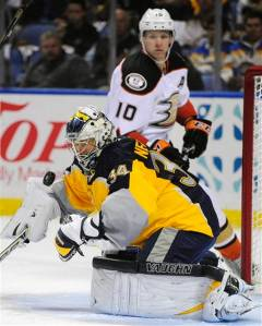 Neuvirth did the best he could, allowing only one goal on six Ducks power play chances. photo from miamiherald.com