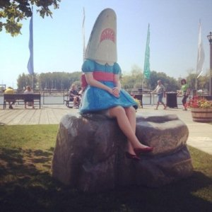Shark Girl at Canalside. Photo from twitter.com