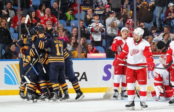 Demoralizing for the Red Wings I'm sure! - Photo via Bill Wippert/NHLI via Getty Images