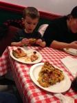 PIZZA!  Thanks, Mineo's!