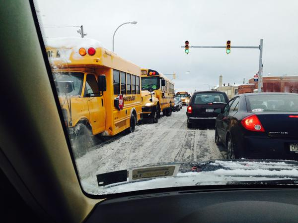 Roads were a standstill! Photo via @BuffaloConnie