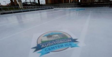 You can stand at the actual spot where the Aud's Center Ice was! Via @Canalside via twitter