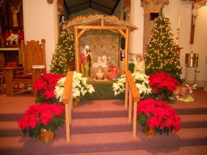 The Nativity at St. Theresa's Church in S. Buffalo - Photo via https://www.facebook.com/stteresaofavilasrcchurchsobflo