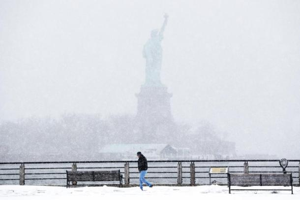 No Offense but I can still see the Statue of Liberty! - Photo via Julio Cortez/AP