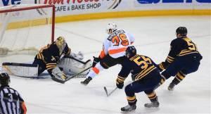 A flukey breakaway goal defeats Buffalo.  Photo from mclatcheyinteractive.com