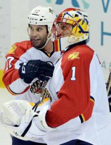 Luongo secures his 68th career shutout.  Photo from Miami Herald.