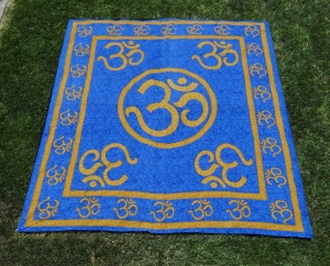 Your very own blue & gold meditation rug.