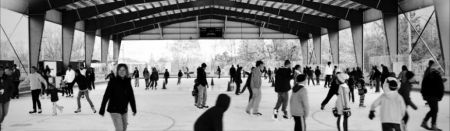 Open skate at East Aurora's outdoor rink.  Photo from thinkrink.org