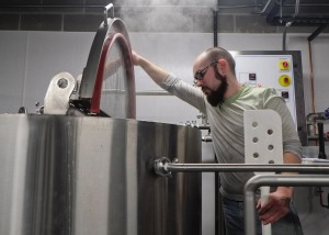 The first batch of beer brewed in-house at Hydraulic Hearth.  Photo from visitbuffaloniagara.org