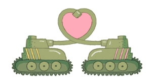 It's tank love, and it's real.  Photo from alexlatimer.wordpress.com
