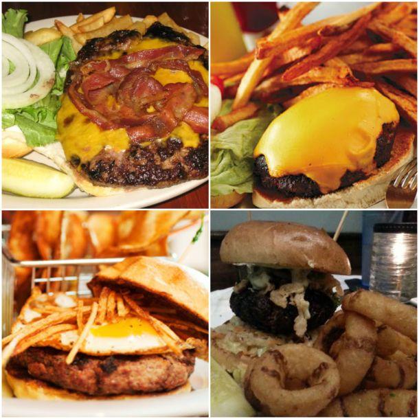 From top left clockwise - Grovers via www.tripadvisor.com.my, Vizzi's via www.buffalospree.com, The Griffon Pub via www.tripadvisor.com.my, and Soho Burger Bar via www.sohoburgerbar.com