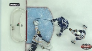 Neuvirth has what may be the save of the year, and will get some good looks this spring.  Photo from cbssports.com
