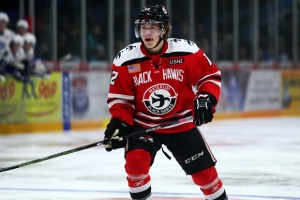 Boeser has 41 points in 37 games for Waterloo.  Photo from hockeysfuture.com