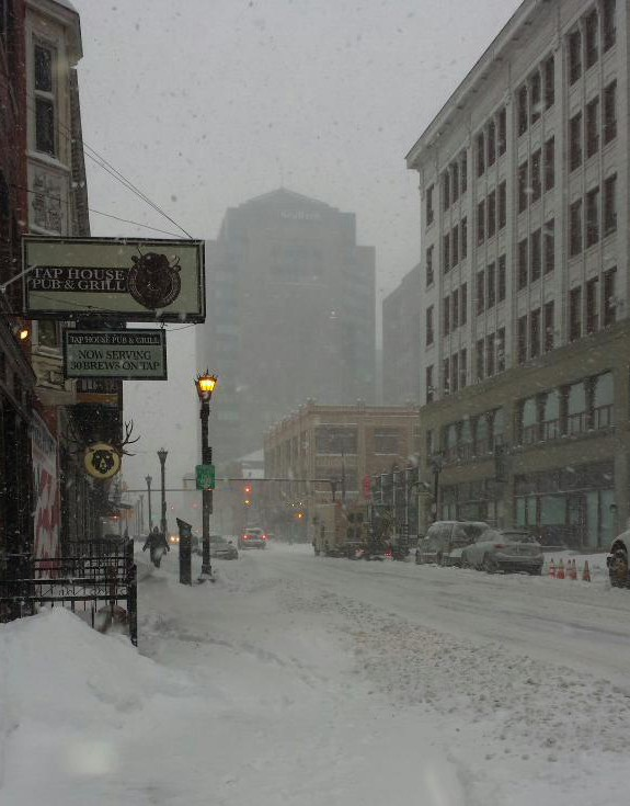 Downtown was in rough shape - Photo via Angela Keppel - @akepps