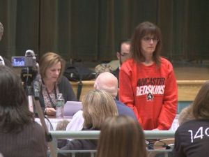 This women clearly doesn't support the name change. - Photo via - WGRZ
