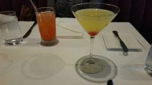 The Oliver Fizz (left) and the Gin and Juice.