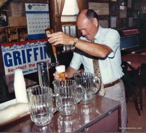 Jimmy always liked a beer - Photo via www.buffalostories.com