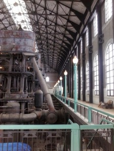 Inside the Colonel Ward Pumping Station.
