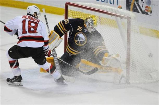 Bernier scores on Linback which has happened a lot this season. - Photo via www.miamiherald.com