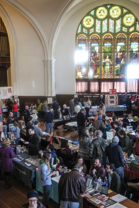 Photo of the 2014 Small Press Book Fair by photographer Max Collins