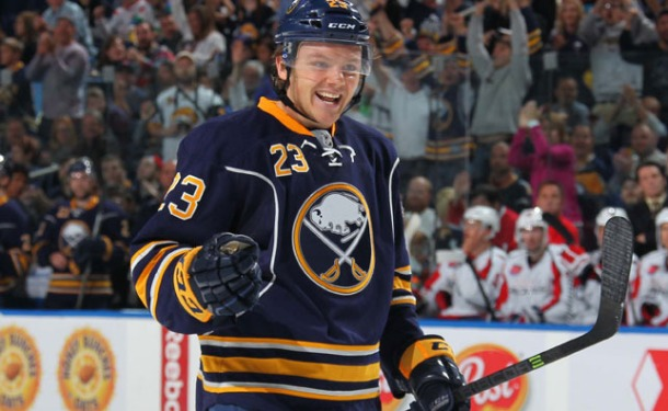 Reinhart was disappointed but motivated when he left Buffalo.  Photo from sabres.nhl.com