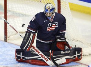 McLaughlin holds the NCAA career saves record.  Photo from cleveland.com