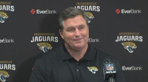 He's smiling because the Bills will pay him millions to coach somewhere else. Photo from wkbw.com
