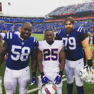 Maybe Shady needs to focus on breaking the line of scrimmage, not holding grudges...Photo from Yahoo.com